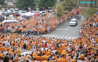 Tennessee football Salute to the Hill