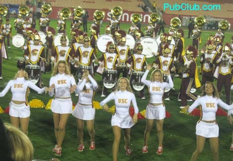 USC Song Girls band post-game