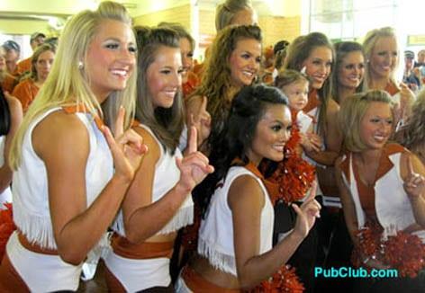 University of Texas cheerleaders