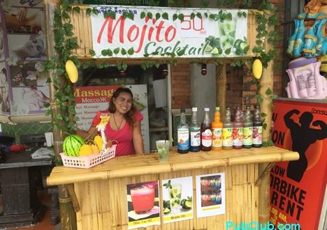 Karon Beach Thailand mojito stand
