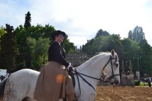 Demonstração de equitação na Avenida Dr. Alfredo de Sousa / Foto: Ana Portela