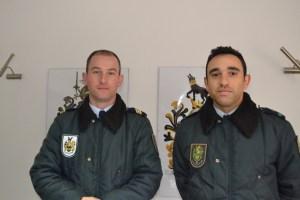 Alcides Fernandes e Sérgio Salgueiro, membros da GNR do Peso da Régua