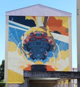 Mural dedicado ao Circuito Internacional de Vila Real / Foto: Direitos Reservados