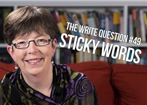 sticky writing
