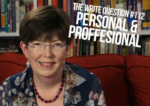 separating personal from professional writing