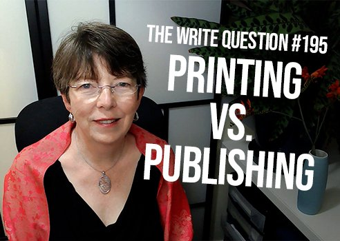 difference between printing and publishing?
