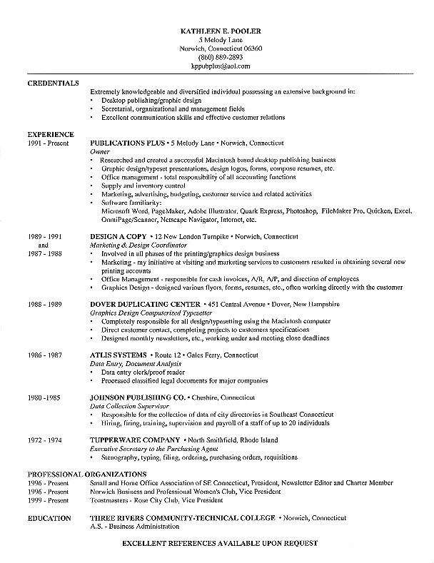 format for publications in resume