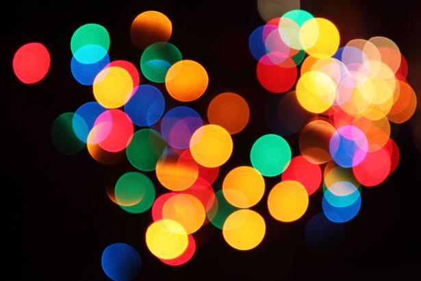 Blurred Lights, Christmas Lights, Vision