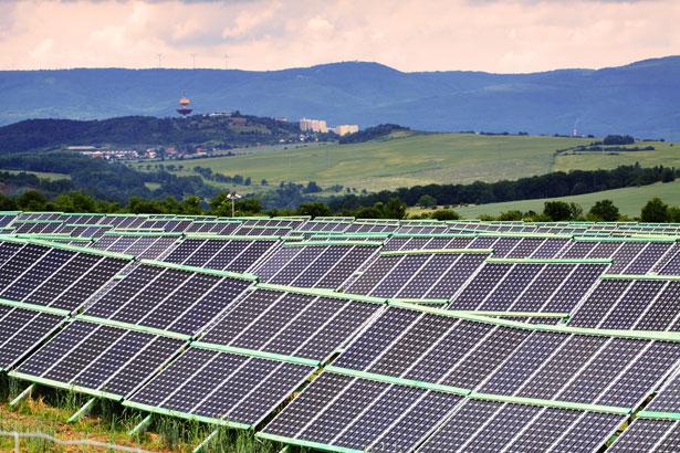 A energia solar plantas