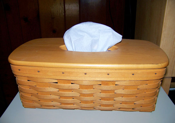 Tissue Box In Basket
