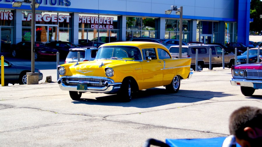 1956 chevrolet cars » The Same Yellow Classic Car Free Stock Photo   Public Domain Pictures The Same Yellow Classic Car