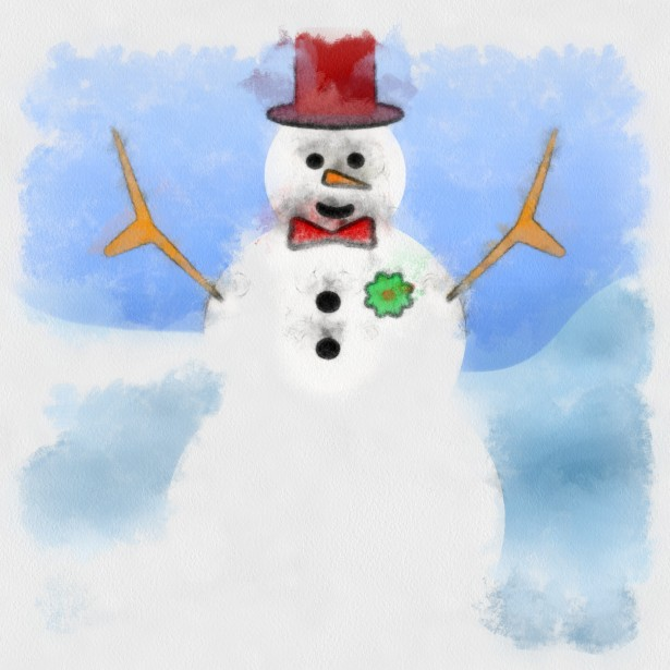 Snowman Painting Free Stock Photo Public Domain Pictures