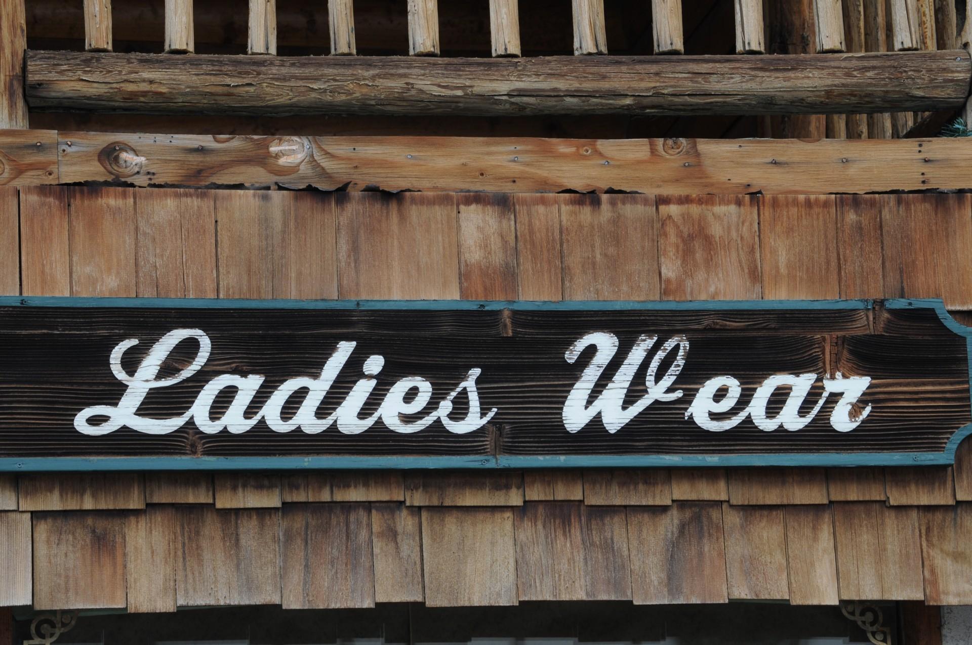 Ladies Wear Sign