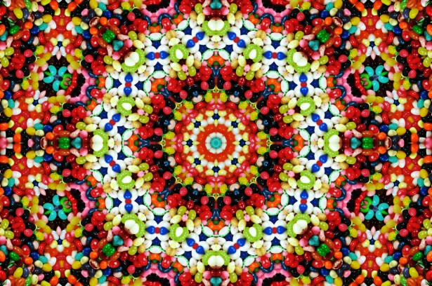 Jelly Bean Kaleidoscope Background Free Stock Photo