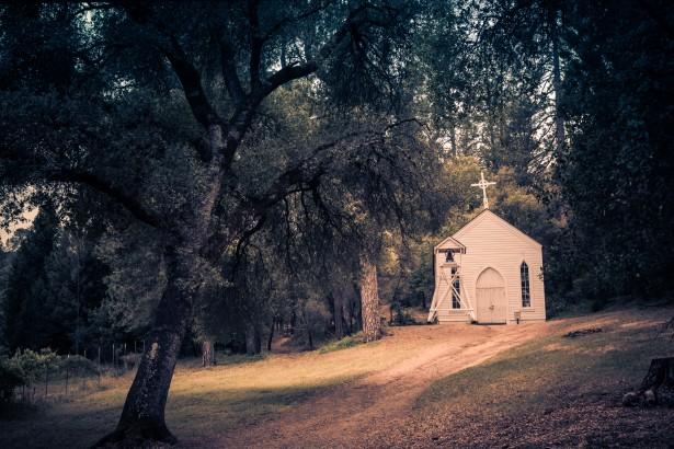 Rustic Church In Evening Light Free Stock Photo Public