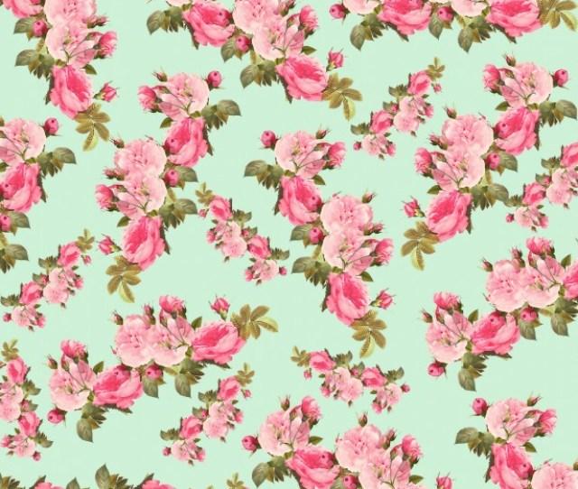 Vintage Roses Floral Background