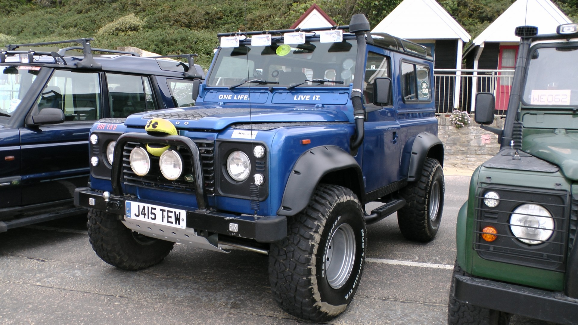 Blue Land Rover Jeep Free Stock Public Domain