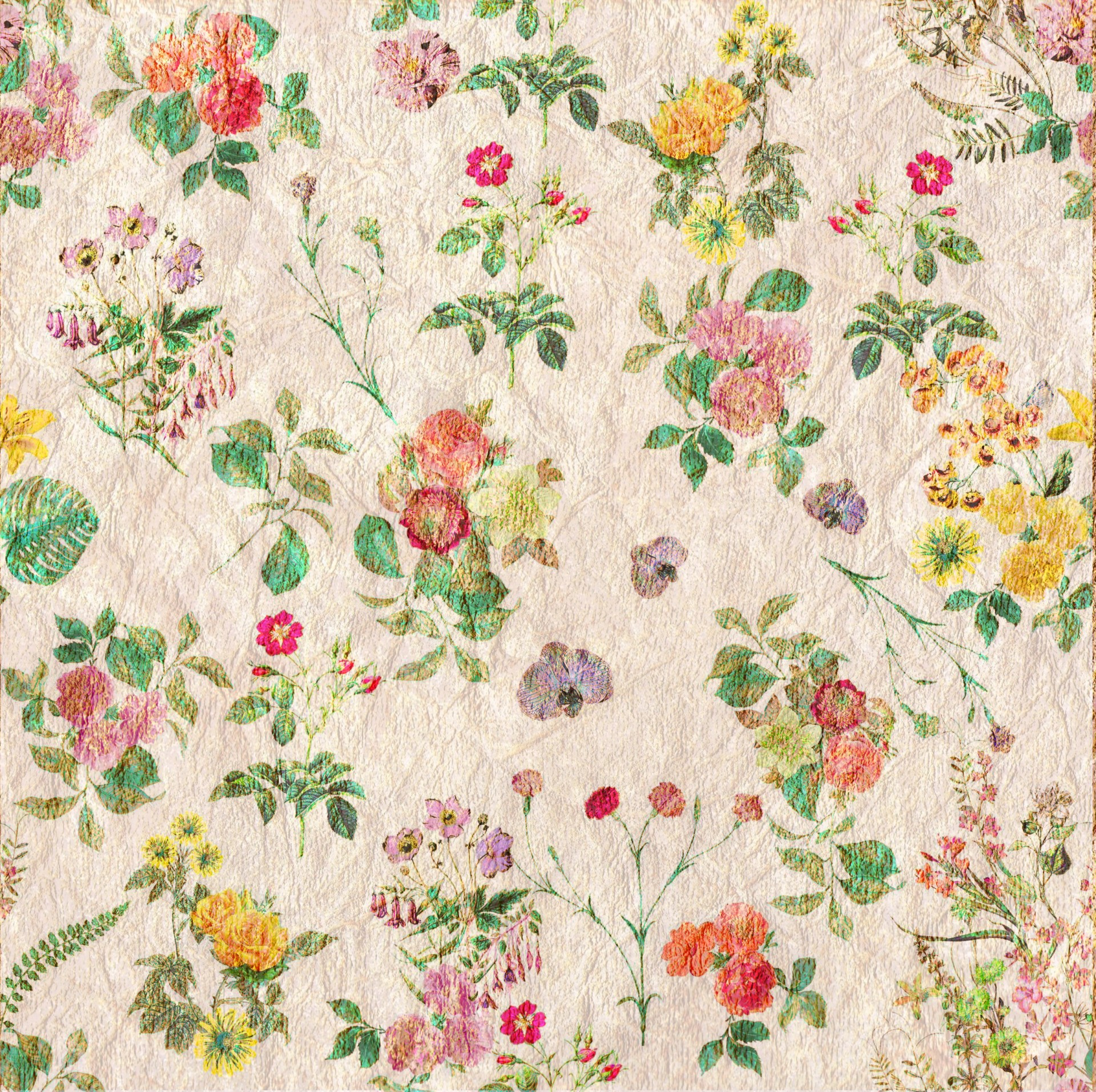Vintage Flowers Wallpaper Pattern Free Stock Photo Public Domain Pictures
