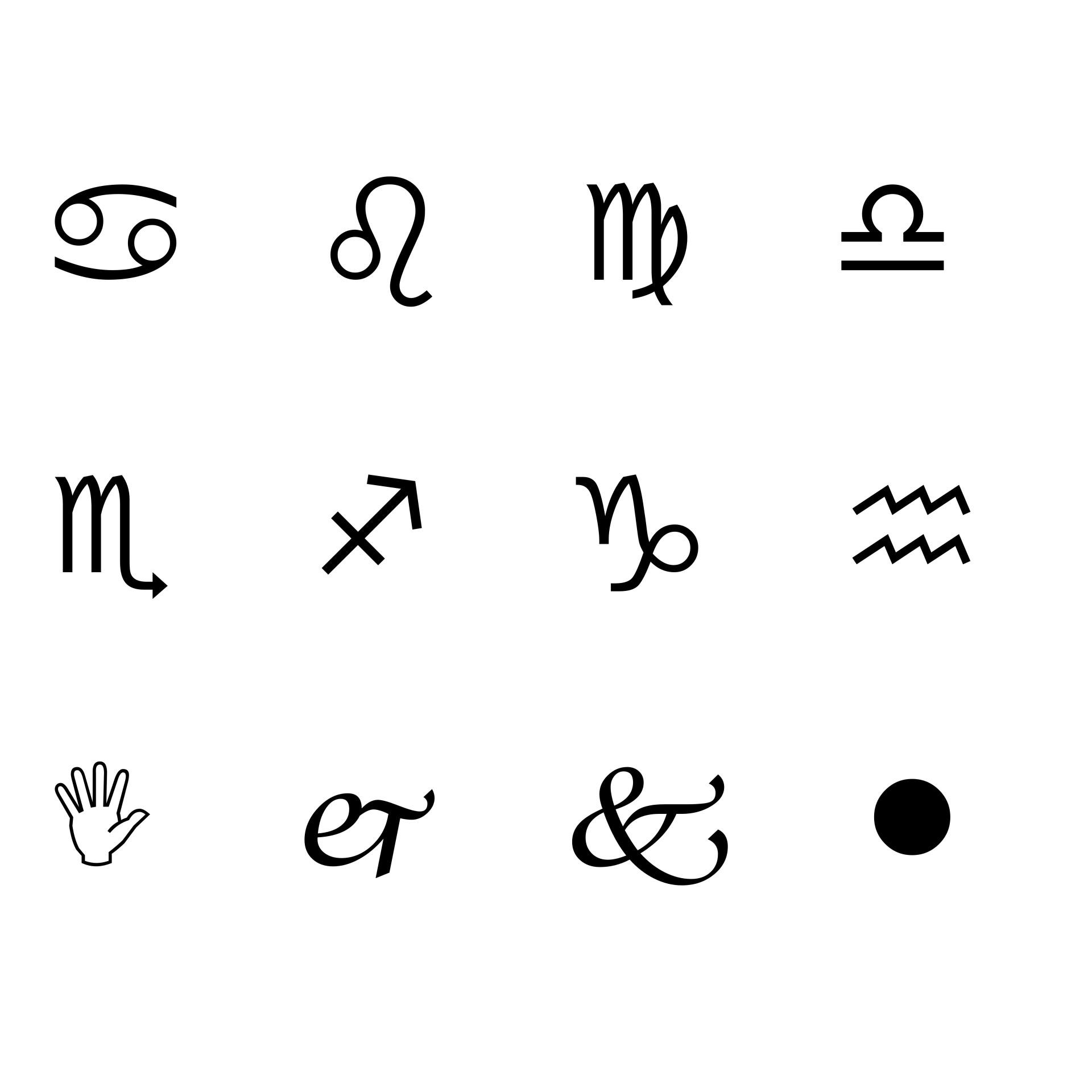 Abstract Symbols Free Stock Photo