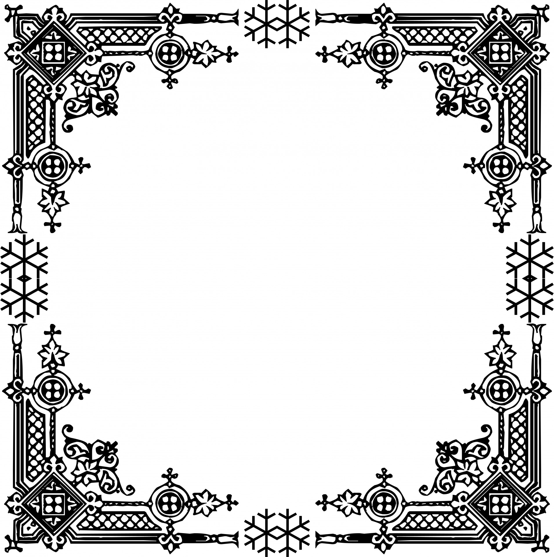 Black Baroque Frame On White Background Royalty Free Cliparts