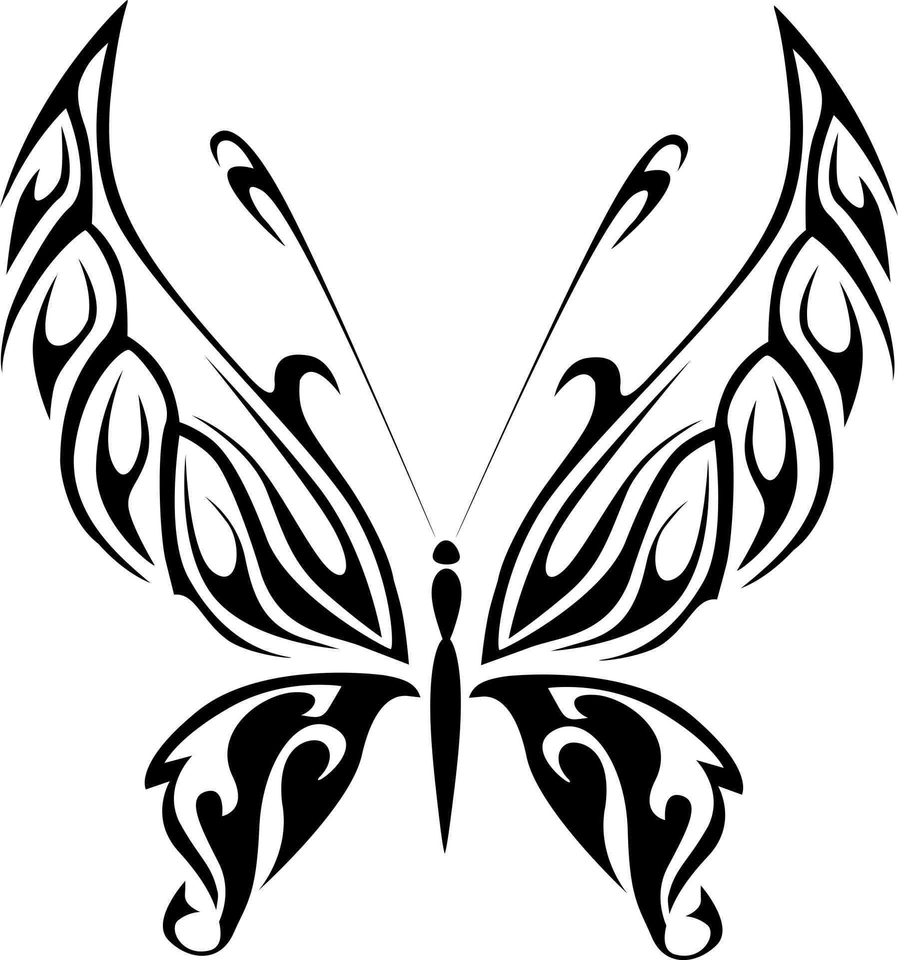 Black Butterfly 9 Free Stock Photo