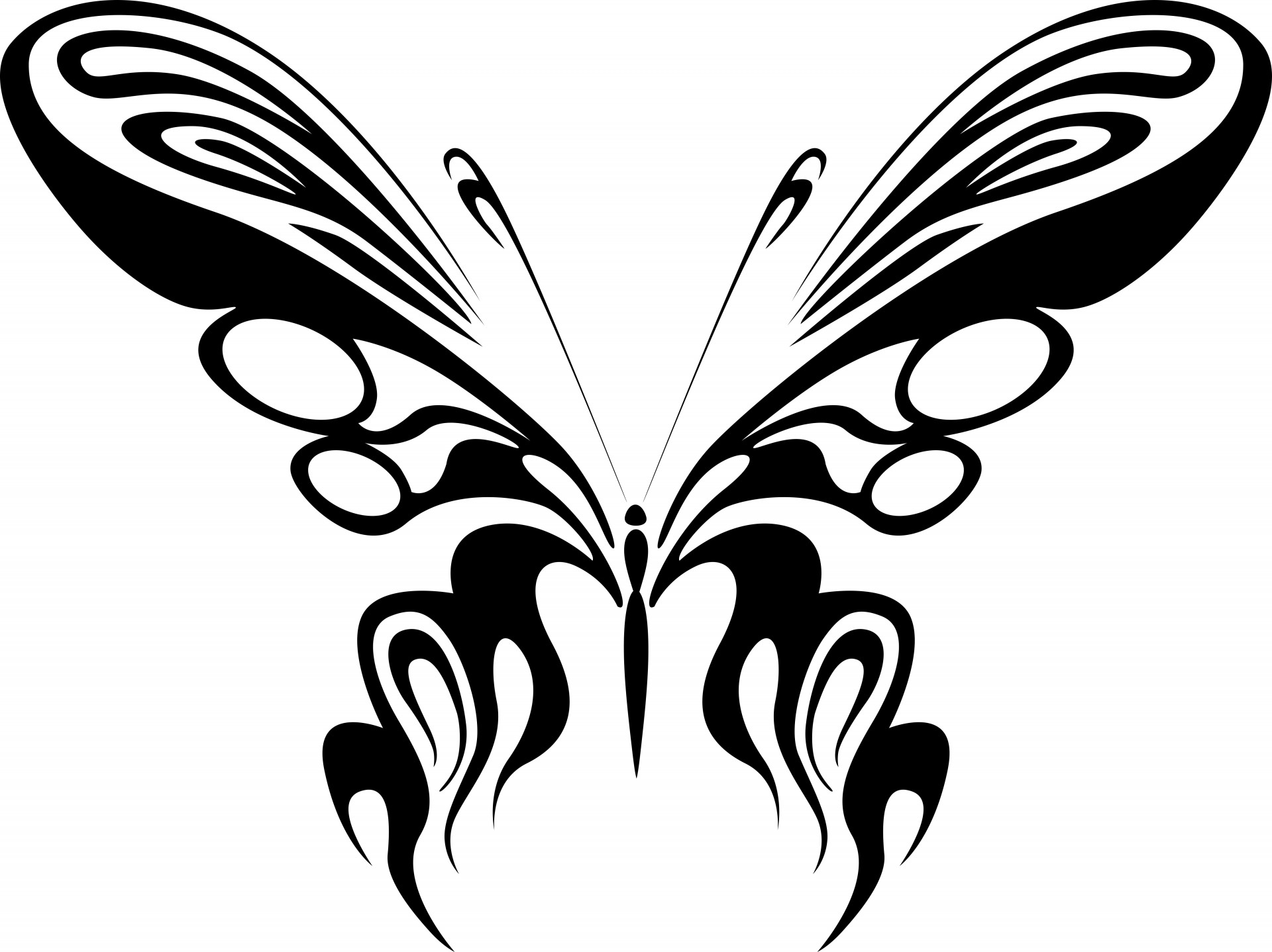 Black Butterfly Shape Free Stock Photo