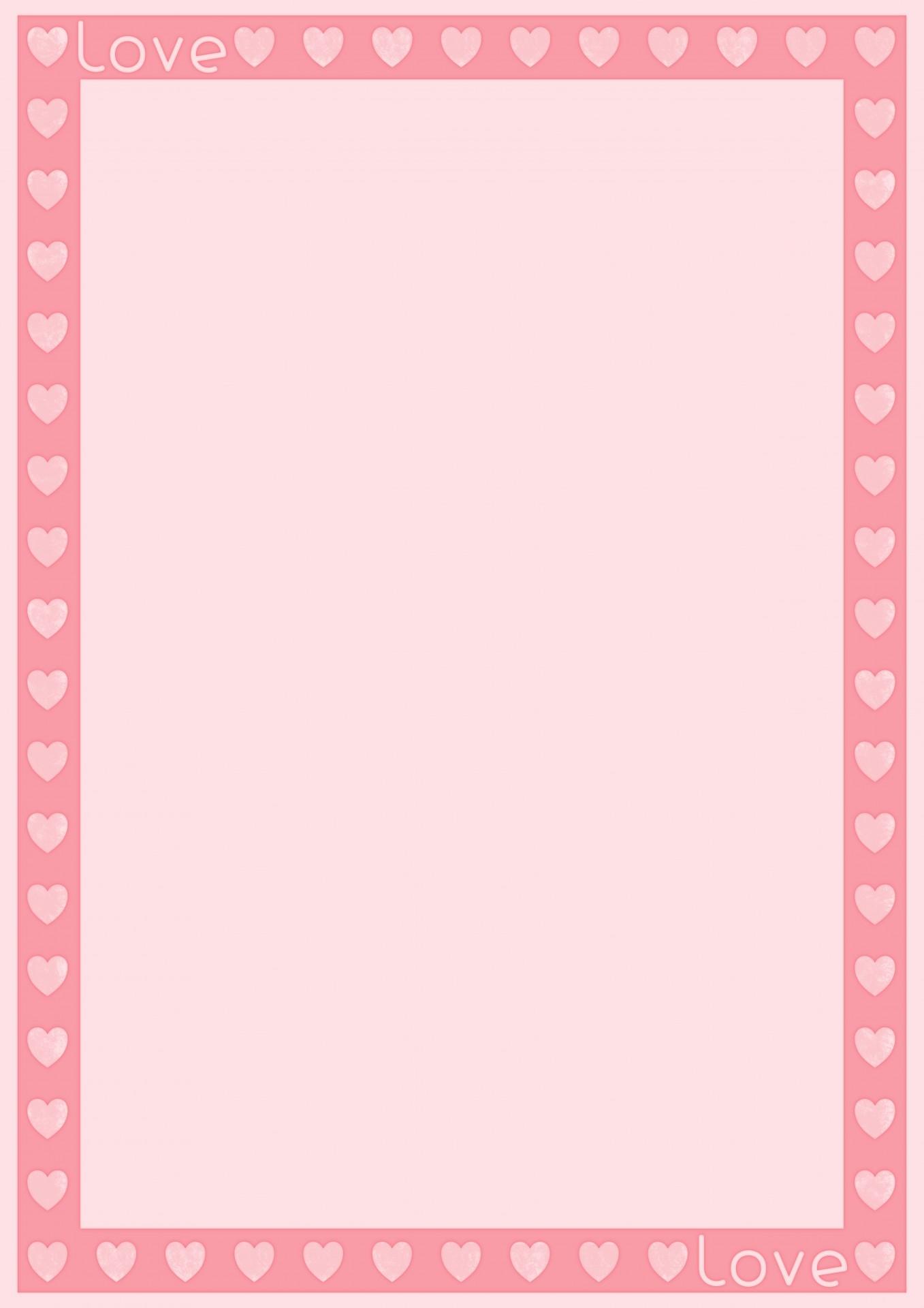 Love Heart Template Free Stock Photo
