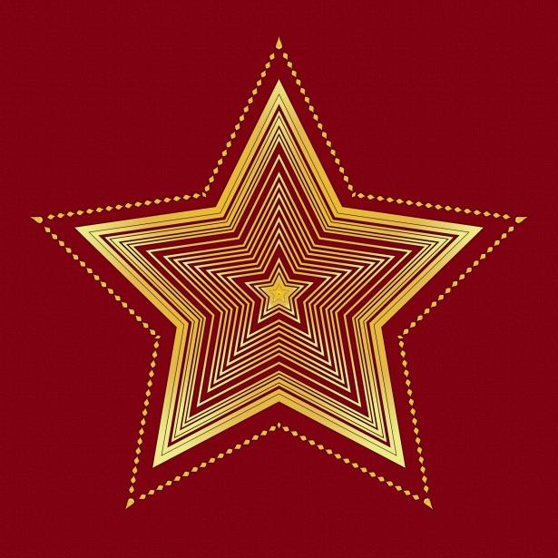 Christmas Star Pattern Background Free Stock Photo