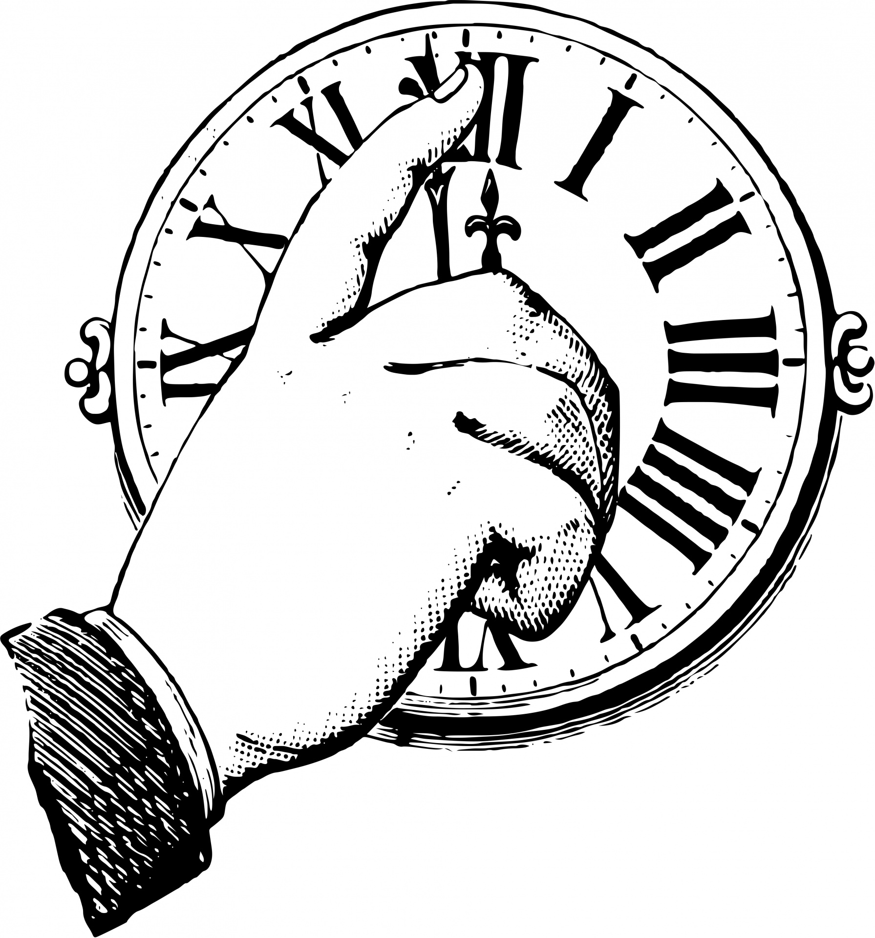 Clock Hand Free Stock Photo