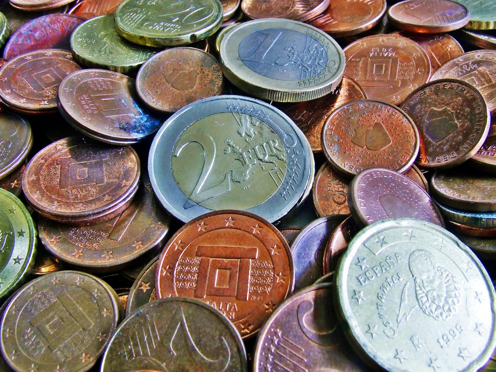 Euro Coins Free Stock Photo