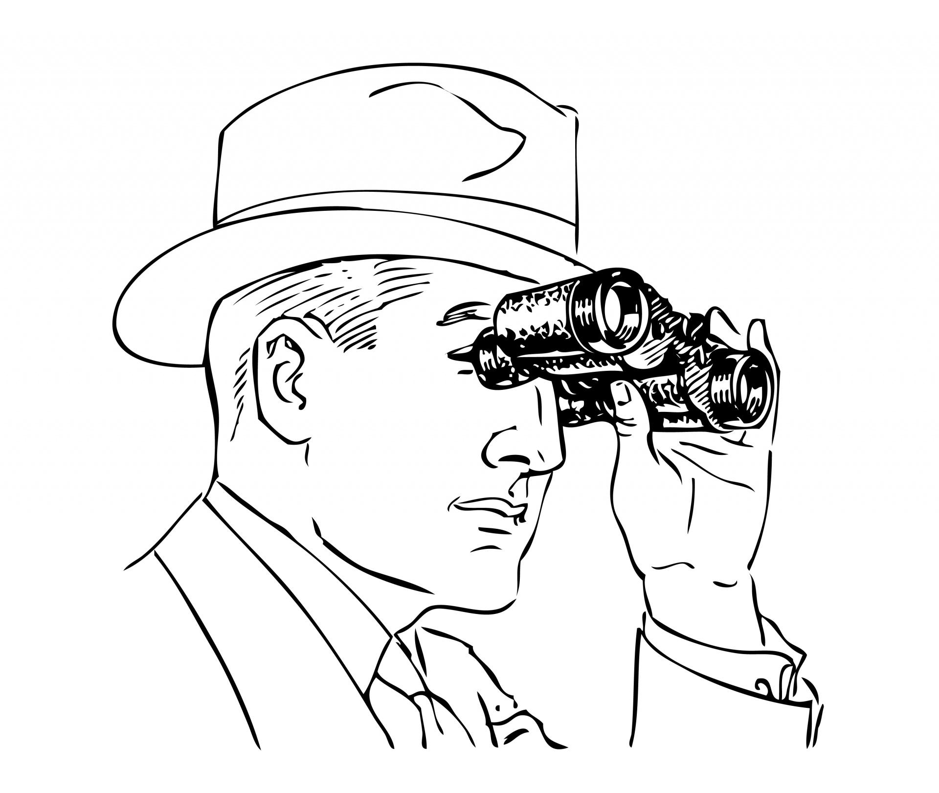 Binoculars Clipart Free Stock Photo