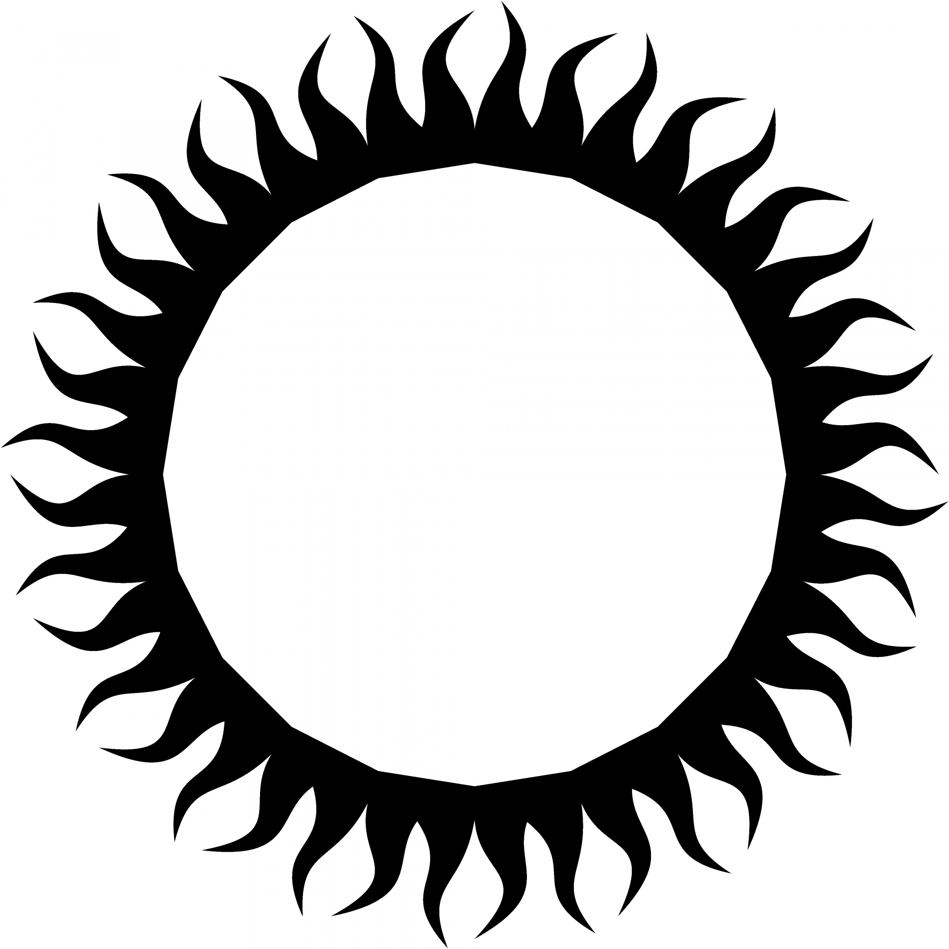 Black Sun Free Stock Photo