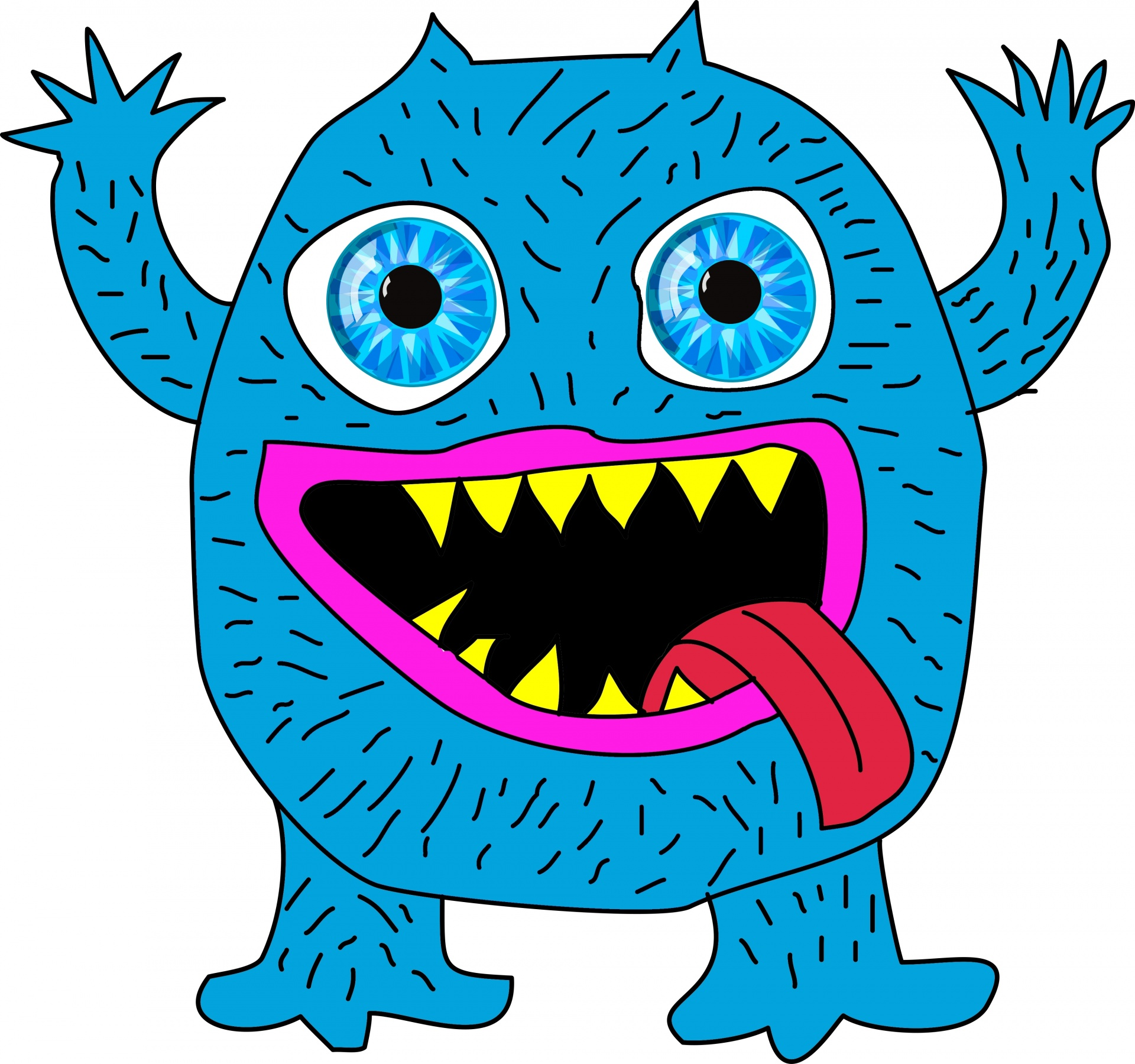 Blue Monster Free Stock Photo