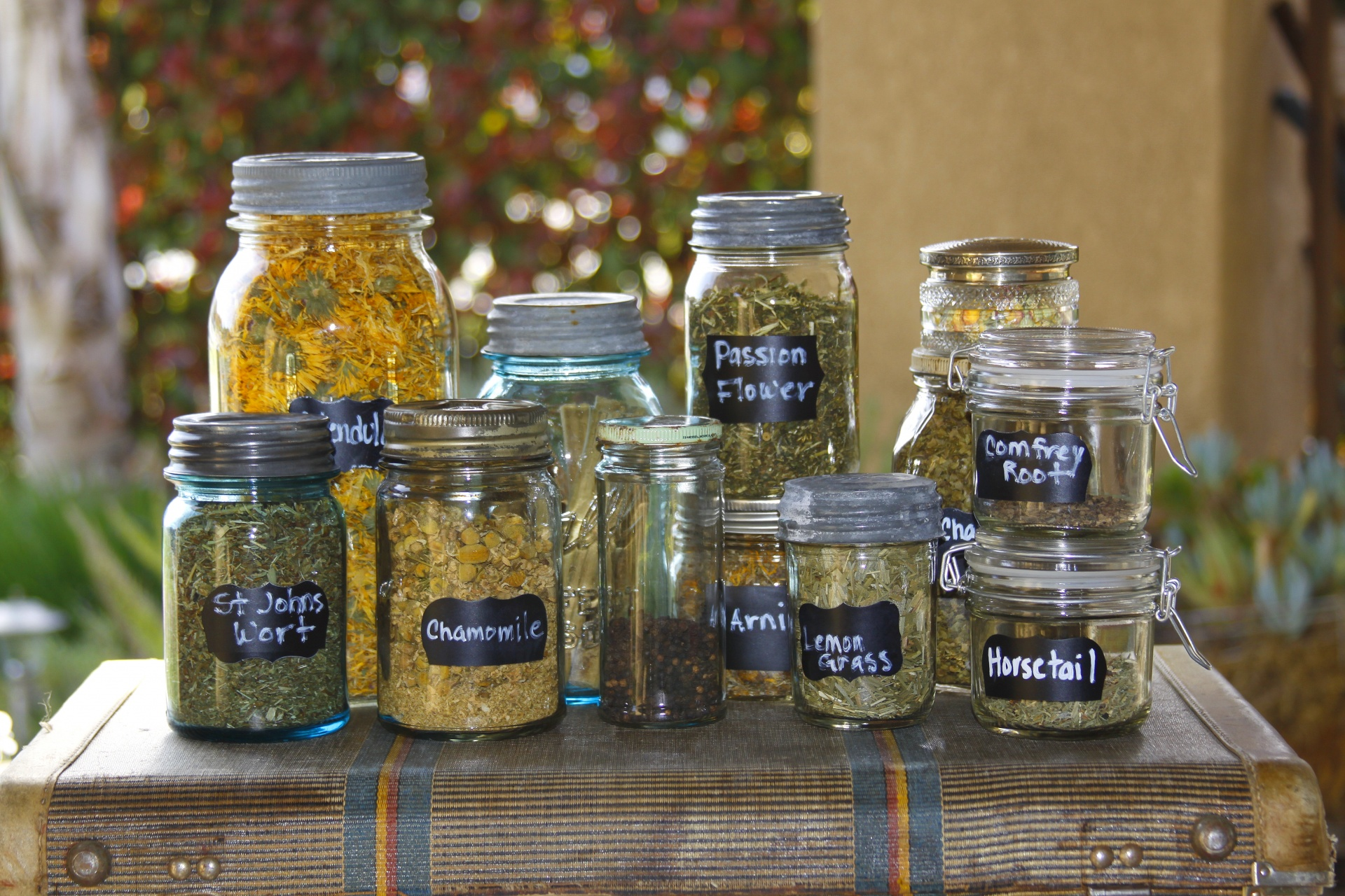 Jar Filled With Dried Herbs Free Stock Photo Public