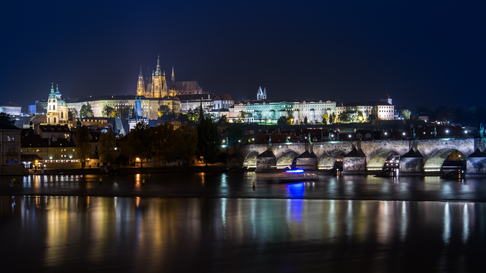 Prague Castle, Night Lights, City Lights