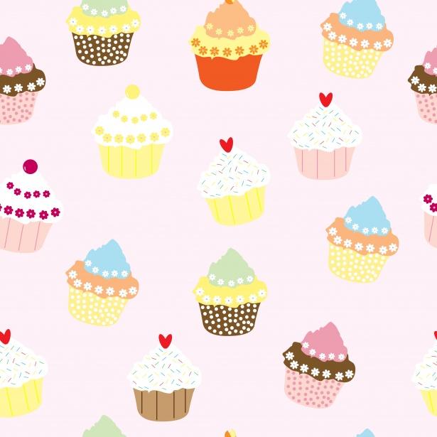 Cupcakes Wallpaper Pattern Free Stock Photo Public
