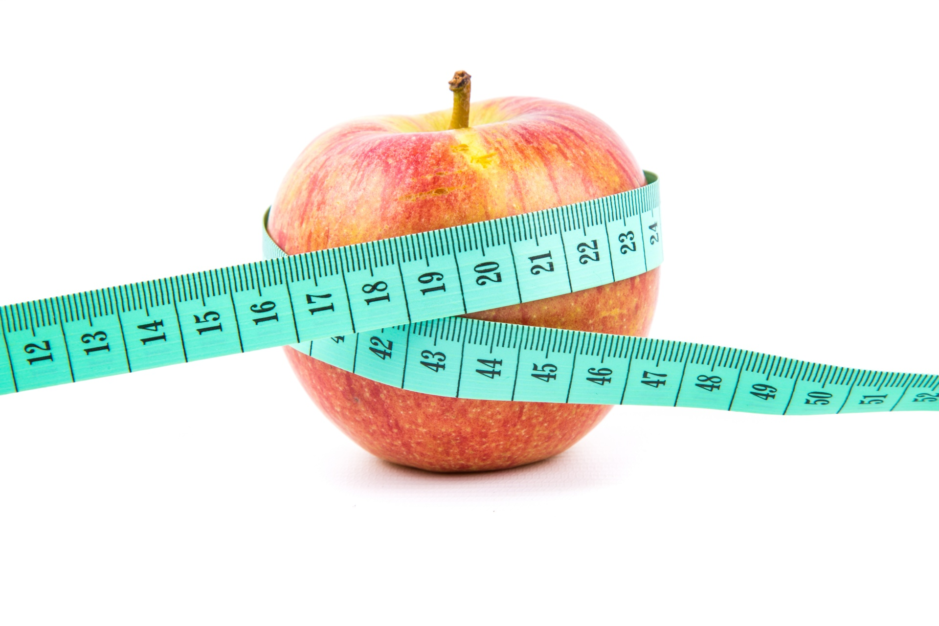 Apple With Measuring Tape Free Stock Photo