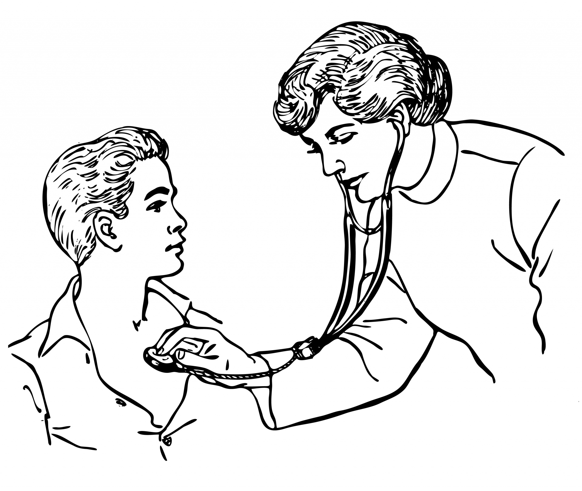 Doctor Stethoscope Child Clipart Free Stock Photo