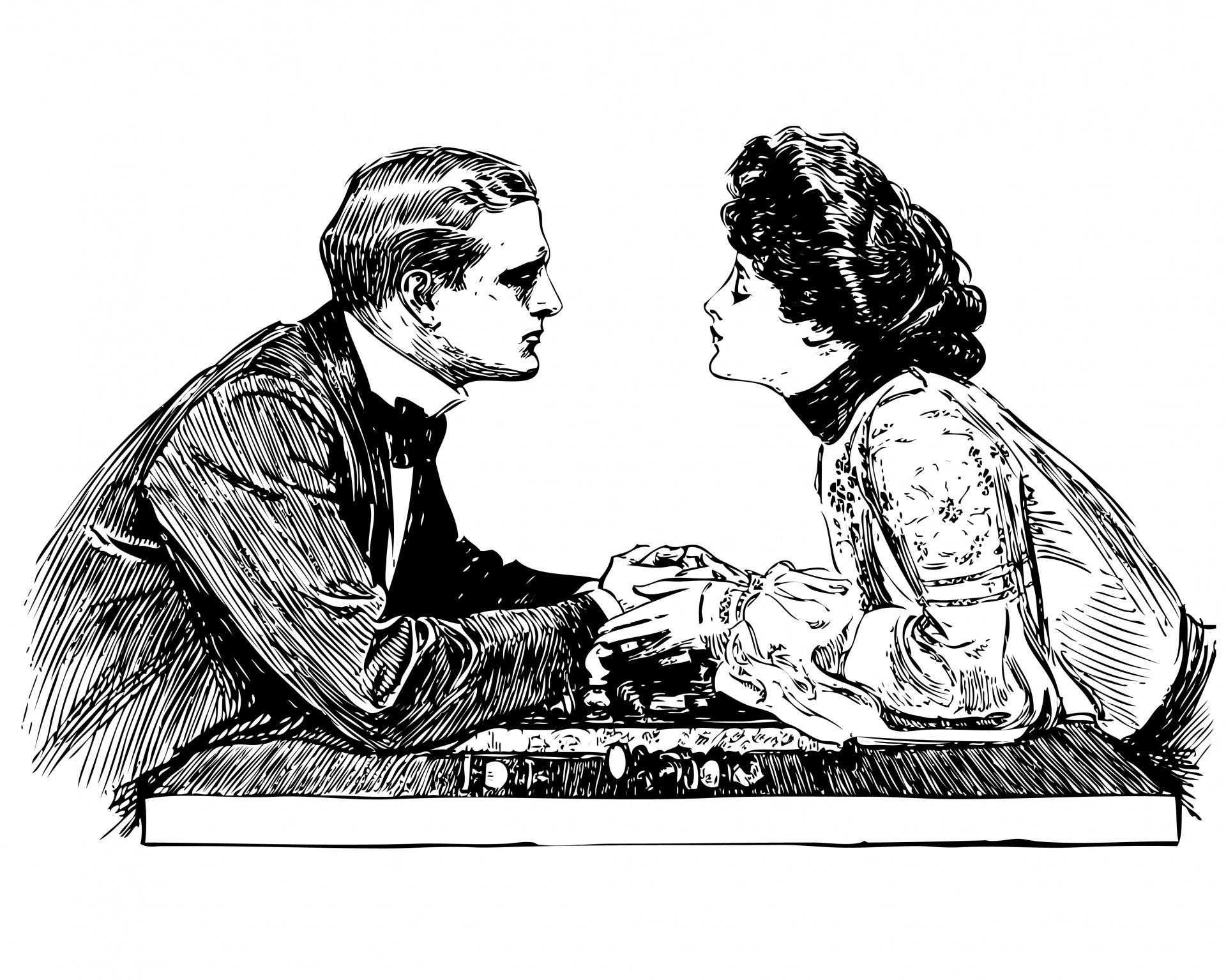 Romantic Couple Illustration Free Stock Photo