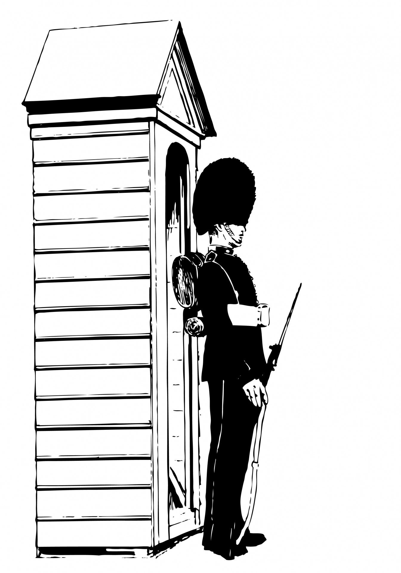 Sentry Guard Clipart Illustration Free Stock Photo