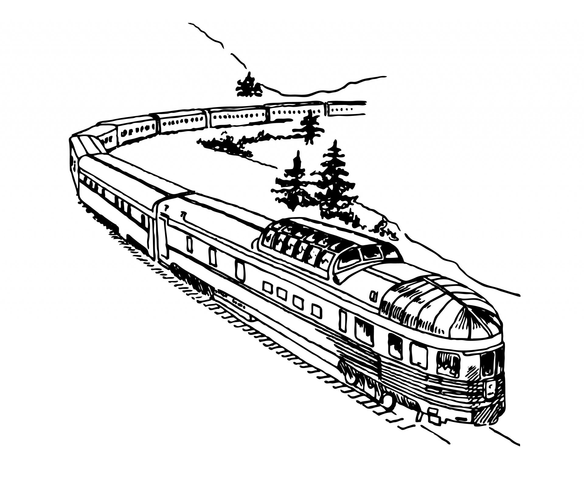 Train Clipart Illustration Free Stock Photo