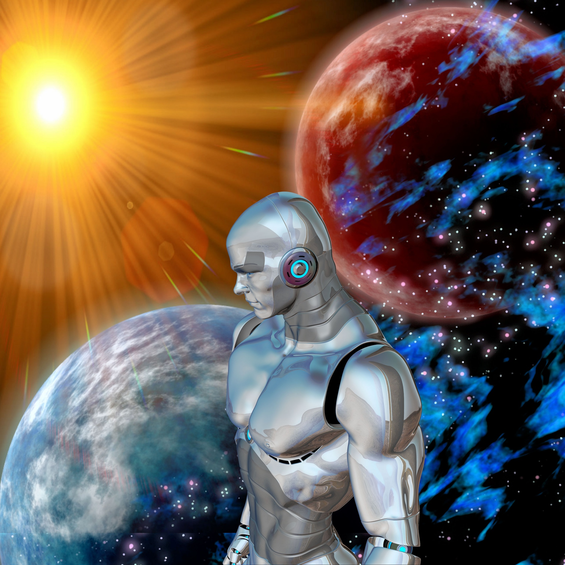 Robot, Technology, Universe, Innovation, Vision