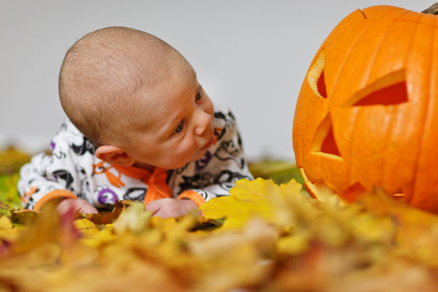 Bebé en Halloween