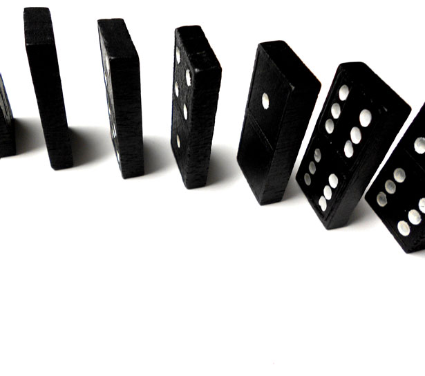 Domino Line Closeup