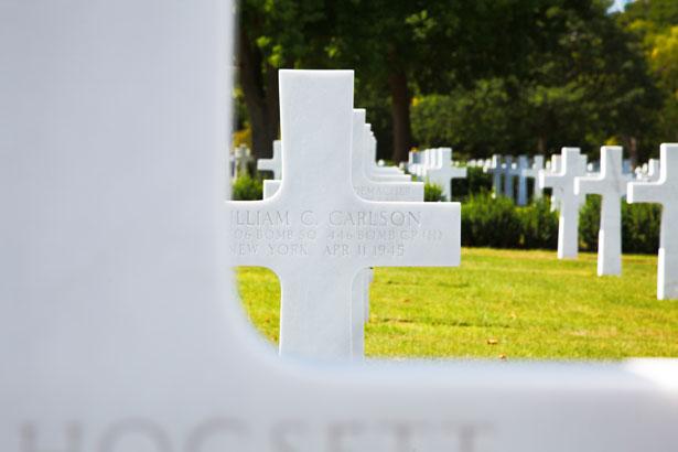 Military Grave At Memorial