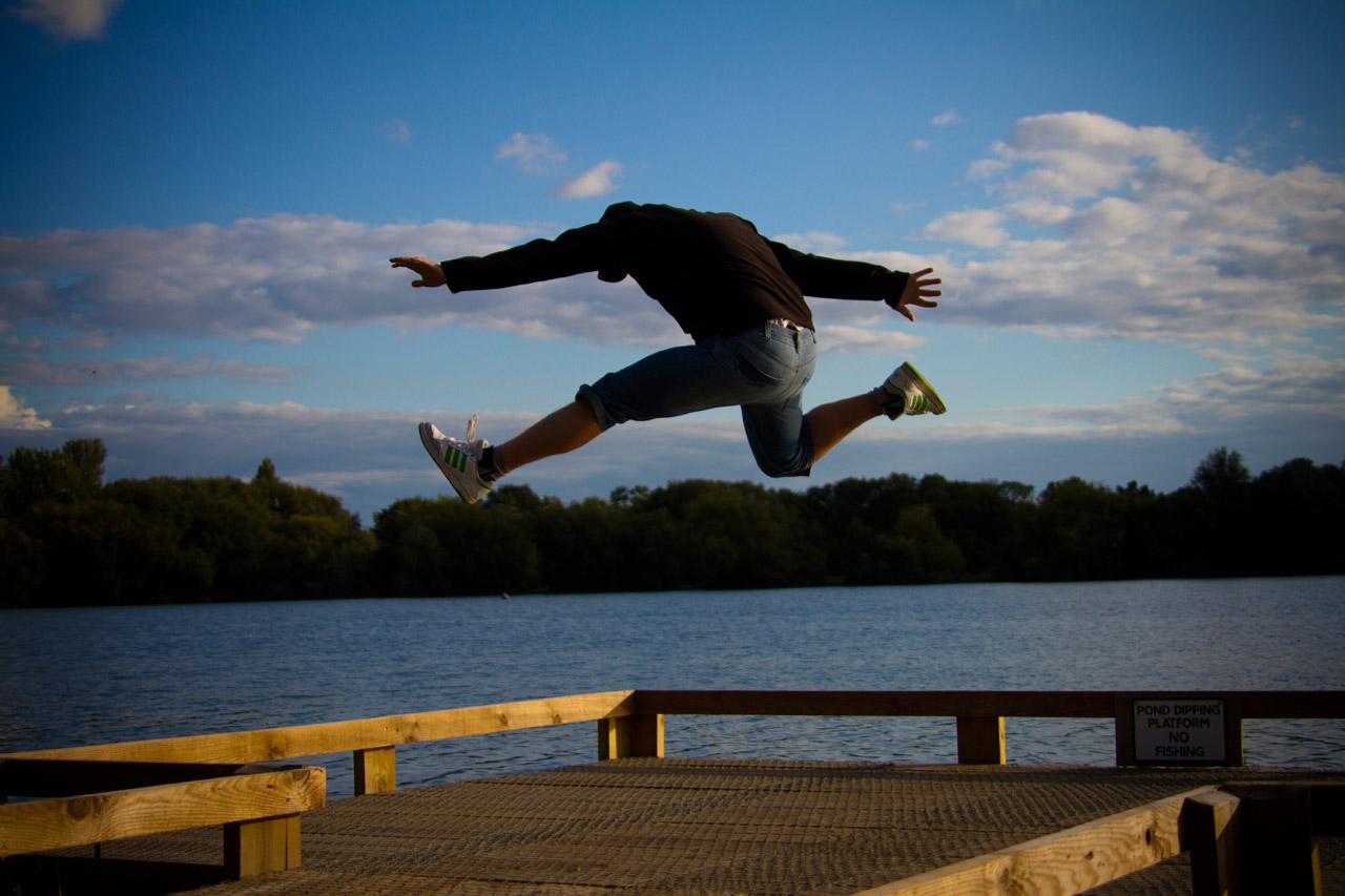 jumping, lake, diving, swimming, leaping