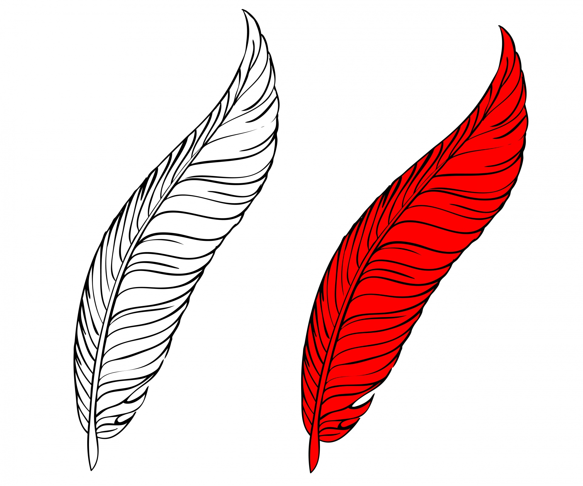 Beautiful Free Printable Turkey Feather Coloring Pages