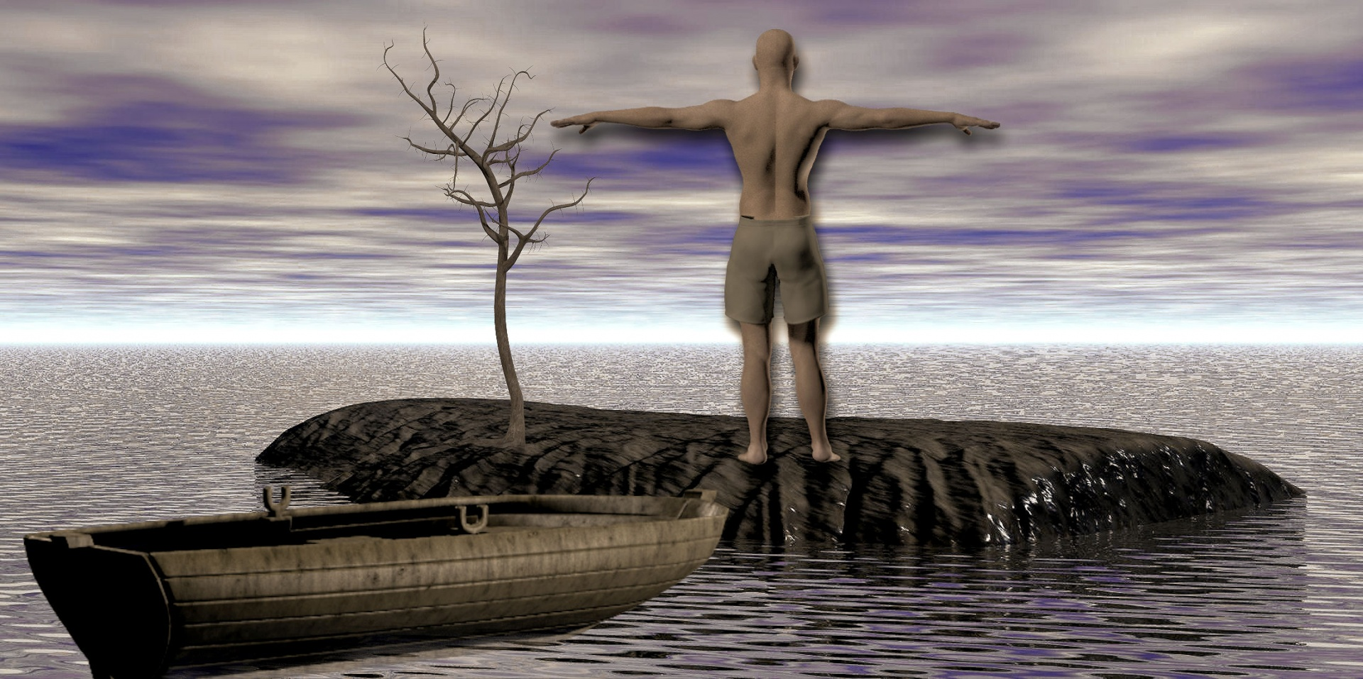 island, man on island, no man is an island, kai Stachowiak