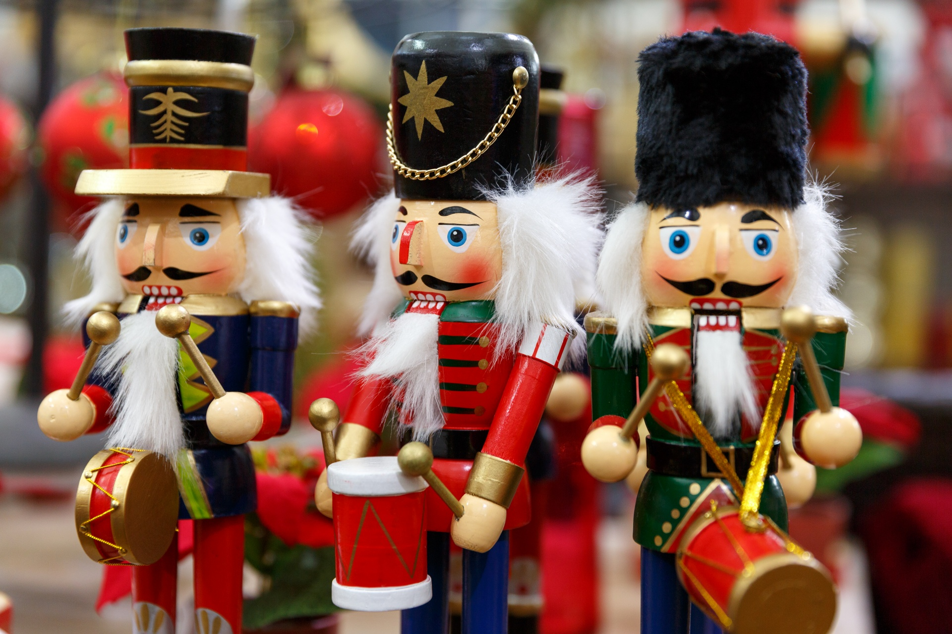 Toy Soldier Nutcracker From Behind The Pen