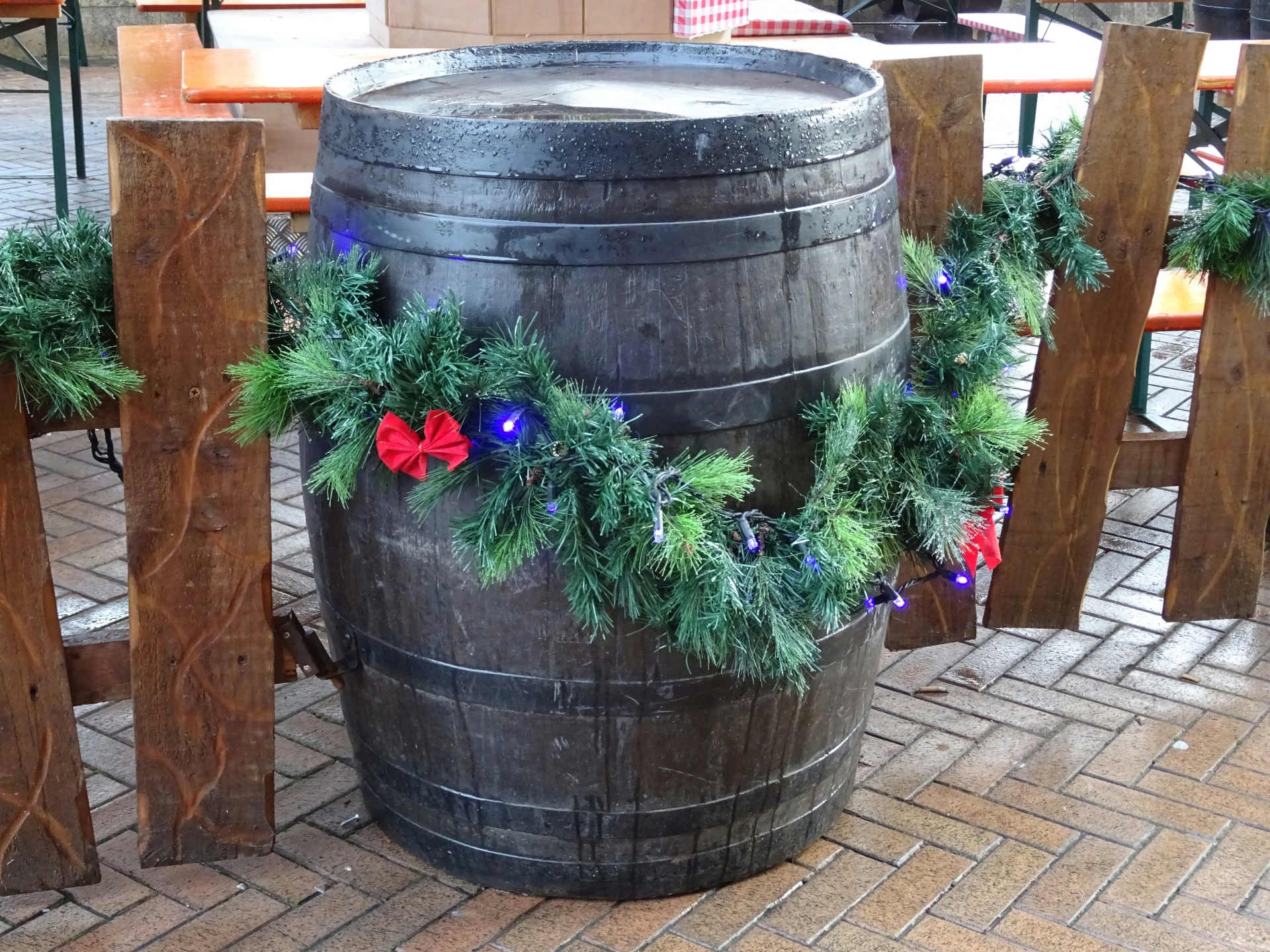 Christmas Beer Barrel